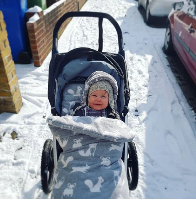 ada running buggy snow 18